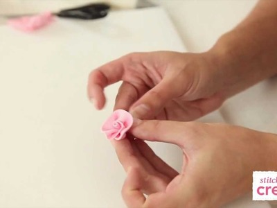 How to make a fondant ribbon rose | Cake Craft Made Easy