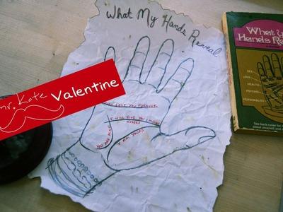 Mr. Kate DIY Palm Reading Valentine's Card