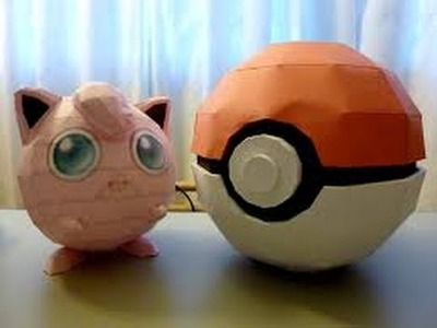 Origami Pokeball with papercraft & How to make It   Part 1