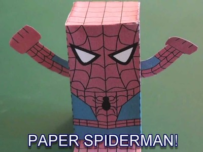 Popular Craft Projects - 011: Paper Spiderman Box Figure - TCGames [HD]