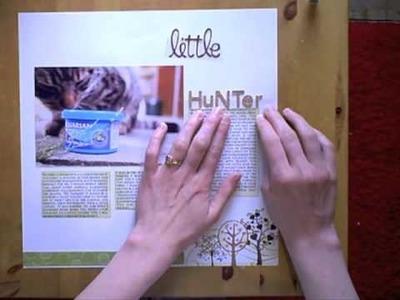 Scrapbook Title Tips Using Gluedots - Improve your design skills