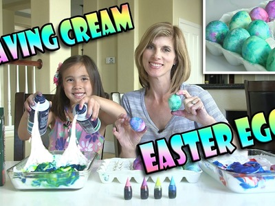 SHAVING CREAM EASTER EGGS!  DIY Marbled Egg Dyeing