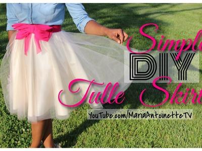 Simple DIY Tulle Skirt | MariaAntoinetteTV