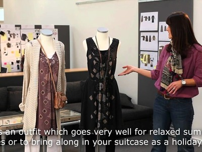Styling tips hand-knitted neckline tunic