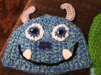 Sully from Monsters Inc. crocheted hat!