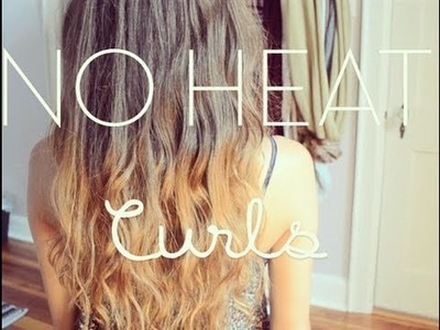Tutorial: No Heat Beachy Waves.Curls Overnight