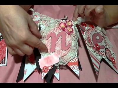 Valentine's Day Banner and Cards - DT project for Scrapbooking with ME Boutique