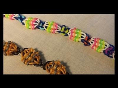 Willis Beads rainbow loom Bracelet - on loom. fork. hook