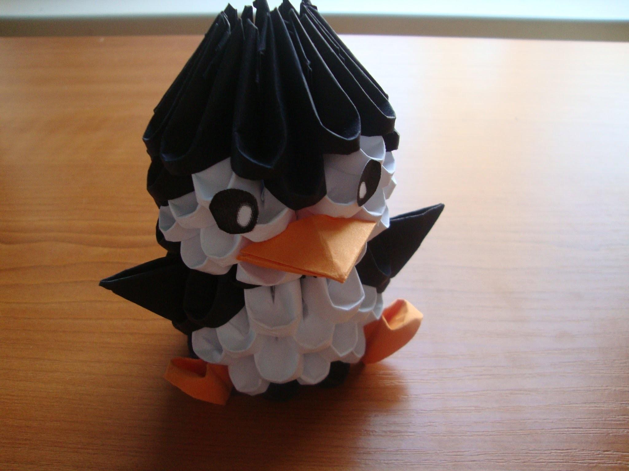 Пингвин своими руками модульное оригами