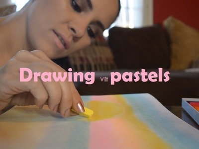 ASMR Arts & Crafts: Drawing with Pastels (soft spoken)