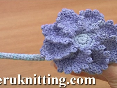 Big Crochet Button Fastener Tutorial 4 Part 3 of 3 Crochet Round Cord