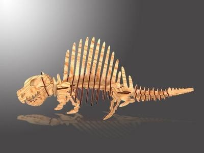 CHICO CRAFT Dimetrodon Wooden 3D Puzzle