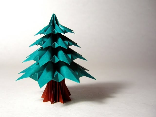 Christmas Origami Instructions: Fir Tree (Francesco Guarnieri)