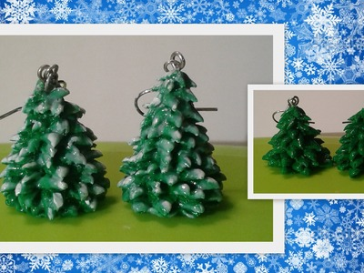 Clay Christmas tree earrings (Crafting Tutorial by HoneyBeads1)