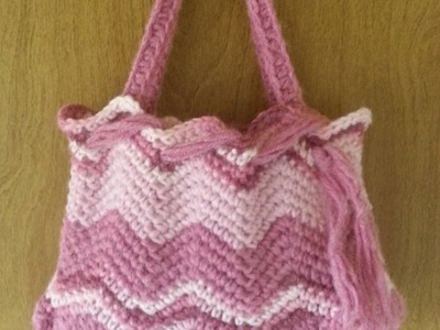 #Crochet Chevron Handbag Purse #TUTORIAL Affordable Handbags Crochet tutorial DIY Purse DIY handbag