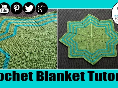 Crochet Waves 8 point Blanket