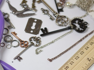 DIY Chain & Charm Necklaces