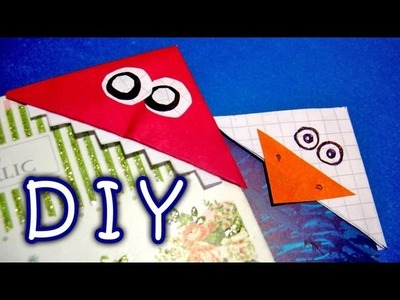 DIY Handmade Bookmarks - How to Make Funny Colorful Paper Bookmarks