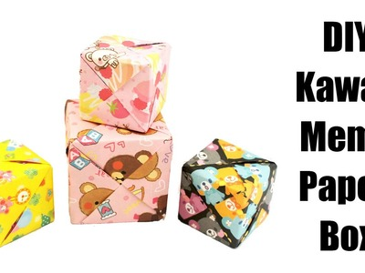 DIY Kawaii Memo Paper Box Tutorial (Origami) - How To