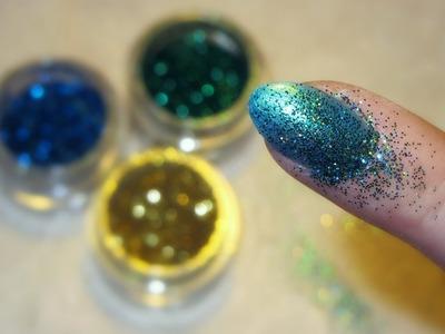 DIY Mermaid Glitter Nails by Cira Las Vegas (german)
