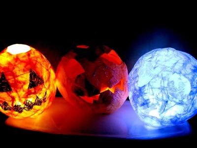 DIY pumpkin paper lantern