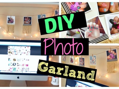 DIY Room Decor! Easy Photo Garland!!! | MissJenFABULOUS
