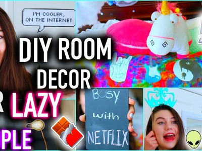 DIY Room Decor for LAZY PEOPLE you NEED to know - Easy, Affordable, and Tumblr Inspired Ideas