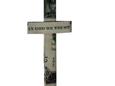 Dollar Origami Cross - How to fold a Dollar Cross