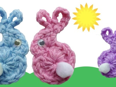 Easter Bunny & Babies Fridgies Free Crochet Pattern - Left Handed