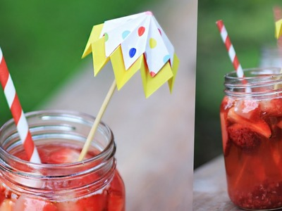 Easy Healthy iced tea with paper umbrella [DIY]