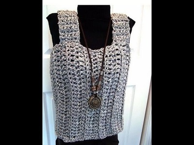 HOW TO CROCHET A TANK TOP, free crochet pattern, women, children, teens