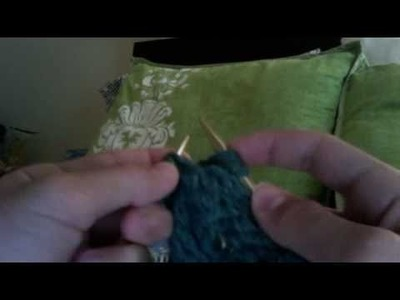 How to knit a cable stitch without a cable needle!