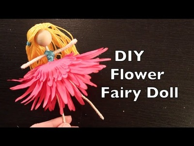 How To Make a Flower Fairy Doll | Easy Fairy Doll Tutorial | DIY