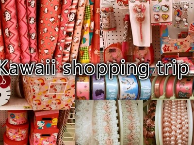 Kawaii shopping trip-Hello Kitty Fabrics.Stationaries,Sewing Materials(lace trims.ribbons)at Joann