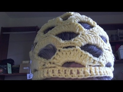 Lion Brand yarn  Openwork Crochet Hat- Part two.final