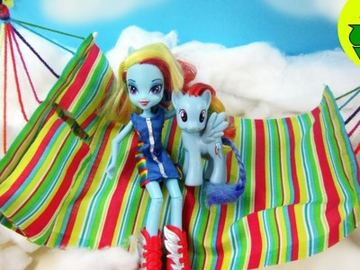 Make a Doll Bed for Rainbow Dash - Doll Crafts