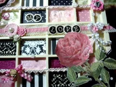 May Arts January Craft Challenge - Sweet Nothings - Project #1 Altered Tray