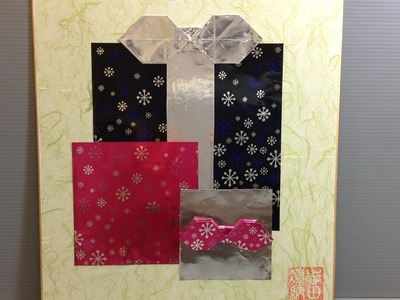 Origami Christmas Presents Display - How to Make Origami Shikishi