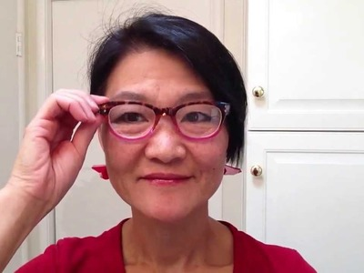 Origami earrings with new glasses