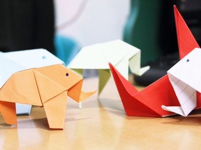 Origami Elephant Easy New Video 2015