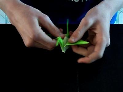 Origami Kraanvogel Vouwen\ Origami  How To Fold Crane