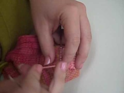Sock Darning - Patching, part 2