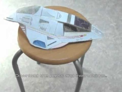 Star Trek Voyager Delta Flyer papercraft model