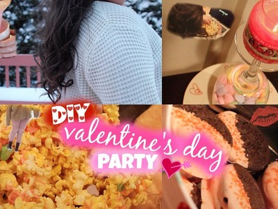 Valentine's Day Party! | DIY Treats, Outfits, Decorations, Easy Curls + more!