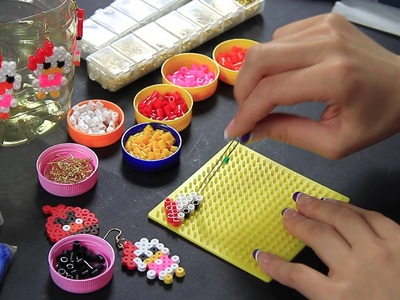 Video tutorial Orecchino Earrings Papera Pyssla Hama beads DIY Full HD 1080p ITA Paperina
