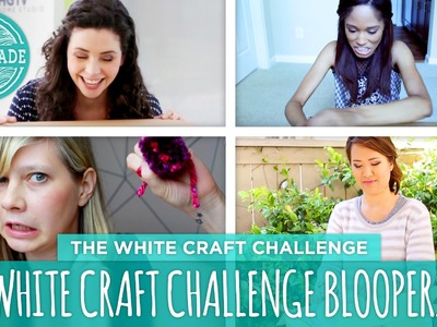 White Lamp Bloopers - HGTV Handmade White Craft Challenge