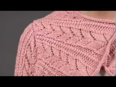 #14 Bias Lace Shrug, Vogue Knitting Spring.Summer 2009