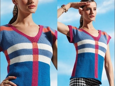 #21 Cap Sleeve Top, Vogue Knitting Early Fall 2014