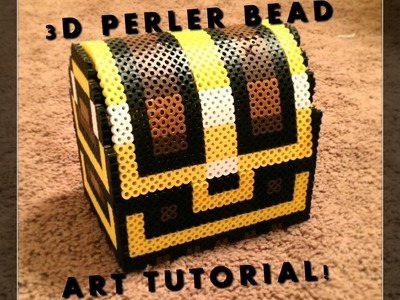 3D Perler Bead Zelda Treasure Chest!
