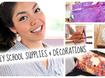 Back to School: DIY School Supplies + Decorations